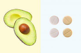 art - pairs - avocado + pills - no. 4