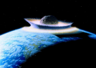 Artist's impression of asteroid hitting Earth (Credit: Don Davis/NASA)