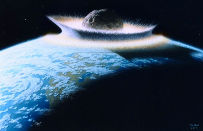 Mass extinctions occurring over the past 260 million years were likely caused by comet and asteroid showers, a new study concludes. An artist's illustration of a major asteroid impact on Earth. (credit: NASA/Don Davis)