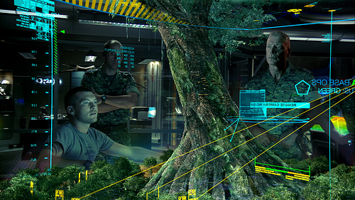3D information visualization displays and interactive multi-touch screens as featured in this scene from Avatar already exist and are in use today.