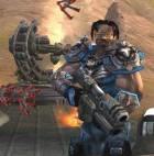 A screenshot from Unreal Tournament 2004, the computer game used in the BotPrize competition (Epic Games)
