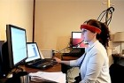 A user tries the Brainput system (credit: Erin Treacy Solovey)