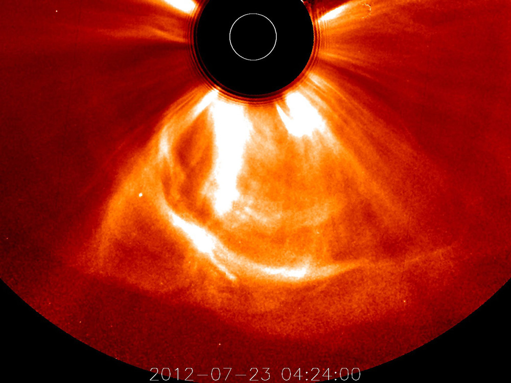Fierce solar magnetic storm barely missed Earth in 2012 | KurzweilAI