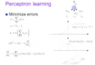 deep neural networks percepton learning