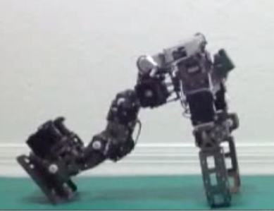 Robot braces its fall based on new algorithm (credit: Georgia Institute of Technology)