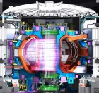 An illustration of a tokamak with plasma (credit: ITER Organization)