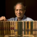 Ray Kurzweil (with his collection of Tom Swift, Jr. books, which he read as a child) Circa 2003