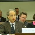Ray Kurzweil testifies to the Congress House Science Committee on the Nanotechnology Legislation on April 9, 2003