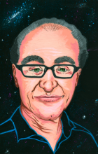 gallery - portrait of Ray Kurzweil by Meg Vazquez
