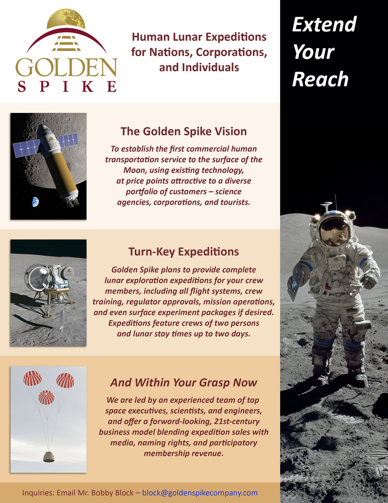 Golden Spike aims to return humans to the Moon | Kurzweil