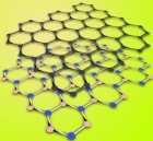 Graphene placed on top of boron nitride to form a superlattice (credit: Berkeley Lab)