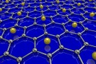 University of British Columbia physicists have been able to create the first superconducting graphene sample by coating it with lithium atoms. (credit: University of British Columbia)