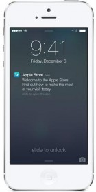 This undated photo provided by Apple shows the screen on an iPhone using Apple's iBeacon, offering precise location technology. On Friday, Dec. 6, 2013, Apple Inc. will begin using iBeacon, a part of its iOS 7 mobile software, to send shoppers inside its U.S. stores messages about products, events and other information based where they are in the store. (Credit: Apple)