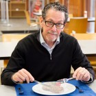 Ronald Evans, director of Salk's Gene Expression Laboratory, has developed a compound called fexaramine that acts like an imaginary meal. Fexaramine, which tricks the body into reacting as if it has consumed calories, could lead to an effective obesity and diabetes treatment in humans. (credit: Courtesy of the Salk Institute for Biological Studies)