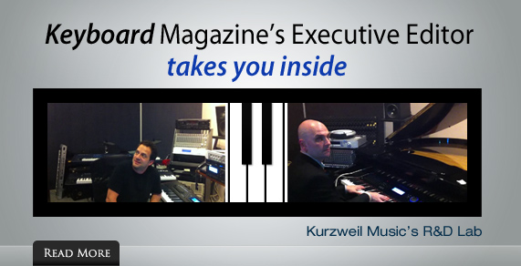 Keyboard Magazine's Executive Editor takes you inside Kurzweil Music's R&D Lab