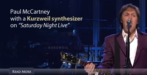 Paul McCartney with a Kurzweil synthesizer on 'Saturday Night Live'