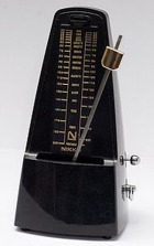 Mechanical metronome (credit: Wikimedia Commons)