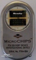 Microchip-based drug delivery device (credit: Robert Farra et al./Science Translational Medicine)