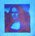 Researchers from DTU Nanotech and DTU Fotonik have succeeded in printing a microscopic Mona Lisa. She is 50 micrometres long or about 10,000 times smaller than the real Mona Lisa in the Louvre in Paris. (credit: Technical University of Denmark (DTU))
