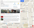 New Google maps: search results appear