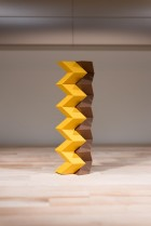 Origami 'zipper tubes' interlocking zigzag paper tubes, can be configured to build a variety of structures that have stiffness and function, but can fold compactly for storage or shipping. (credit: Rob Felt)