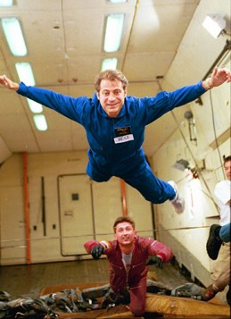Peter Diamandis on a zero gravity flight