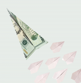 photo - currency plane + paper planes - no. 4
