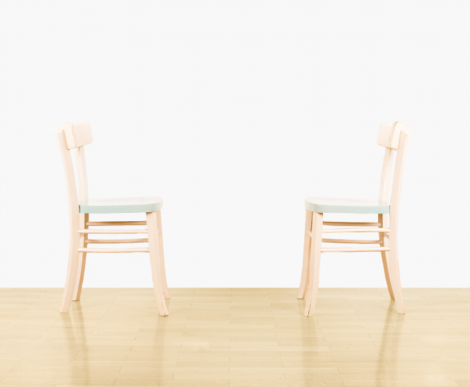photo - pair of chairs + wall - no. 2
