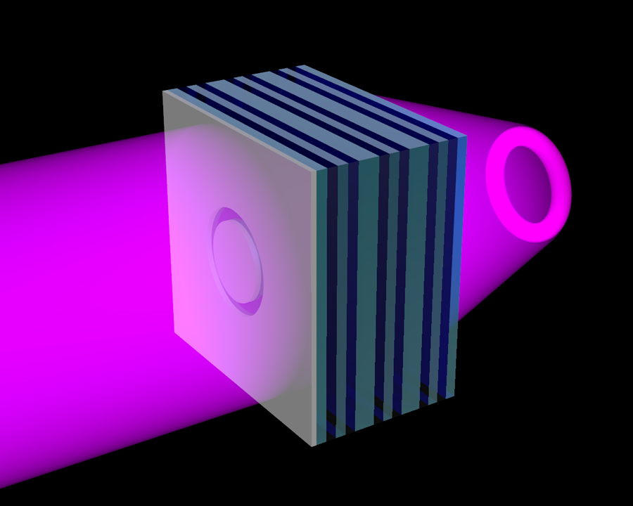 ultraviolet (UV) metamaterial formed of alternating nanolayers of silver