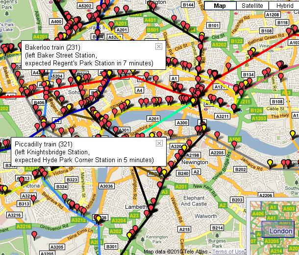 the internet is a series of tubes real time mapping of the london