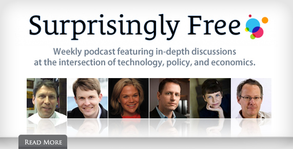 Surprisingly Free. Weekly podcast featuring in-depth discussions at the intersection of technology, policy and economics.