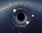 Simulated view of a black hole (credit: Alain Riazuelo of the French National Research Agency, via Wikipedia. (http://go.osu.edu/5zX))