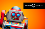 small promo Comedy Central The Colbert Nation with vintage tin robot