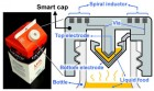 "UC Berkeley engineers created a ""smart cap"" using 3-D-printed plastic with embedded electronics to wirelessly monitor the freshness of milk. (credit: Photo by Sung-Yueh Wu)"