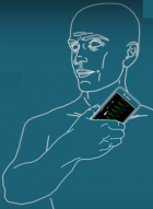 Smartphone heart diagnosis (credit: Caltech)