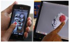 Sparsh: Copying pictures from a phone to a tablet computer (credit: Pranav Mistry)