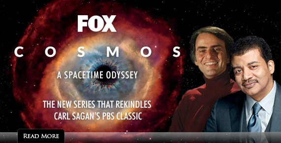 Cosmos. A Spacetime Odyssey. The New Series That Rekindles Carl Sagan's PBS Classic.