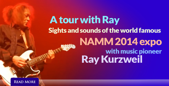A tour with Ray Kurzweil. NAMM 2014 Expo.