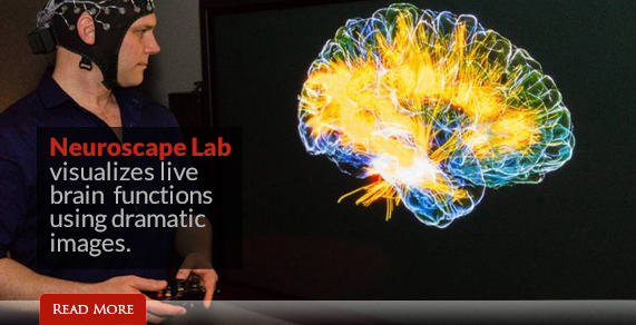 Neuroscape Lab visualizes live brain functions using dramatic images.