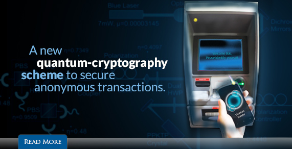 A new quantim-cryptography scheme to secure anonymous transactions.