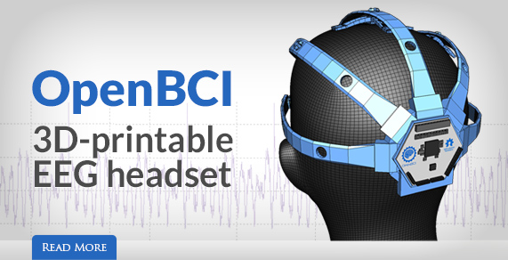 OpenBCI. 3D-printable EEG headset.